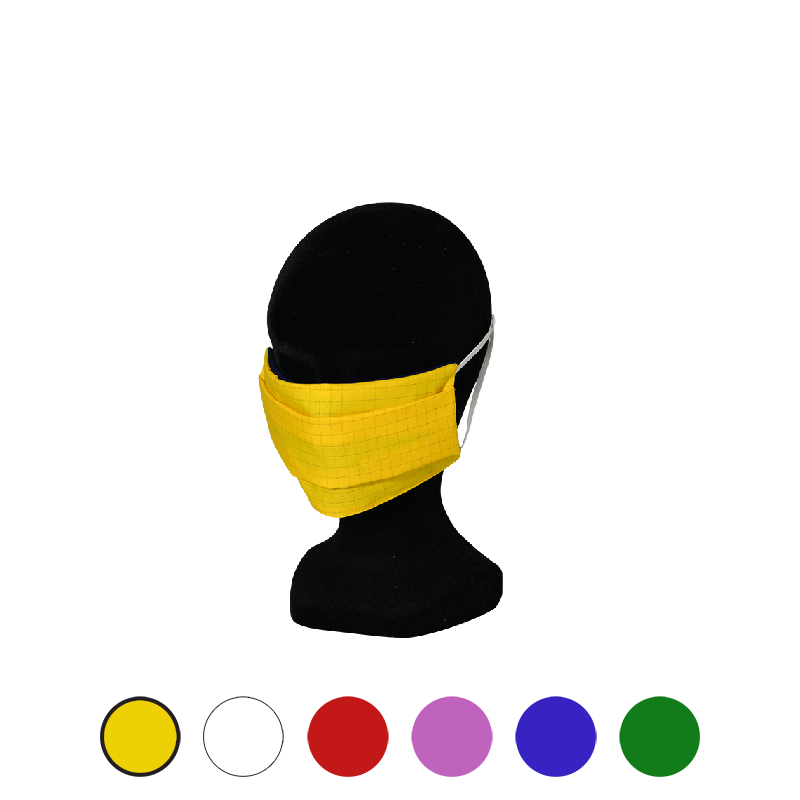 masque tissu respirant jaune