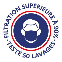 filtration garantie, testé 50 lavages