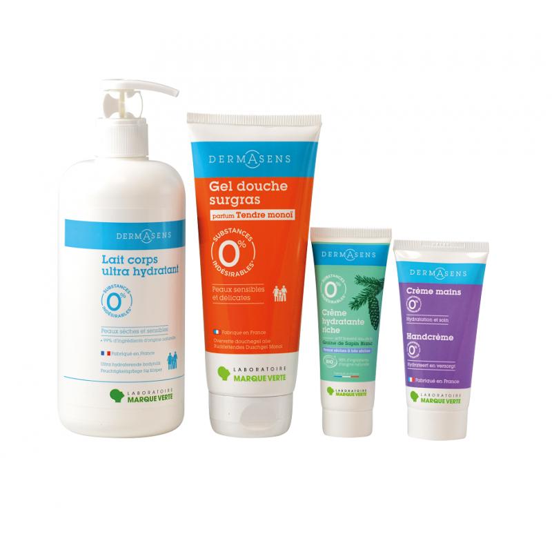 Pack routine peau douce Dermasens peau sèche à très sèche