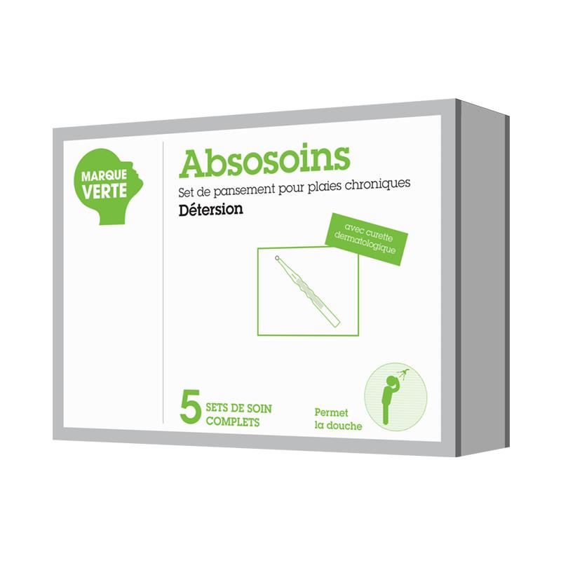 Set de pansements - plaies chroniques detersion Absosoins