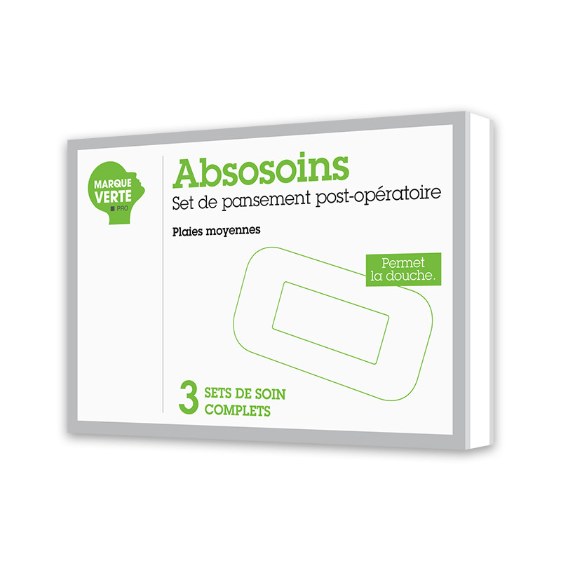 Set de pansement post opératoire - plaies moyennes Absosoins