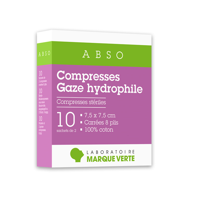 Compresses stériles Gaze hydrophile Abso