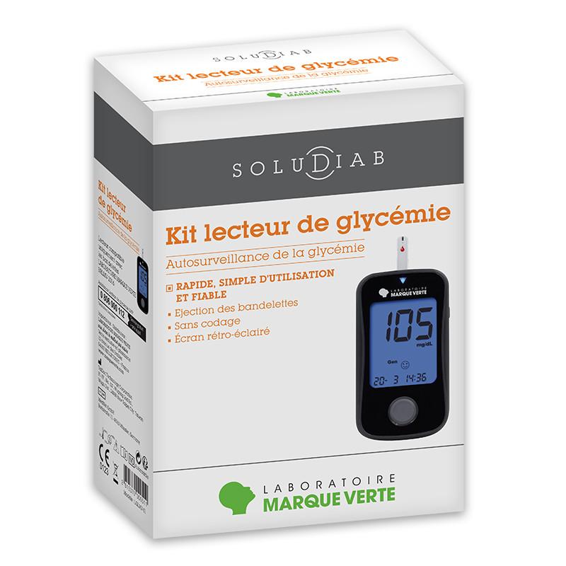 Kit lecteur de glycémie Soludiab - Système de surveillance glycémique