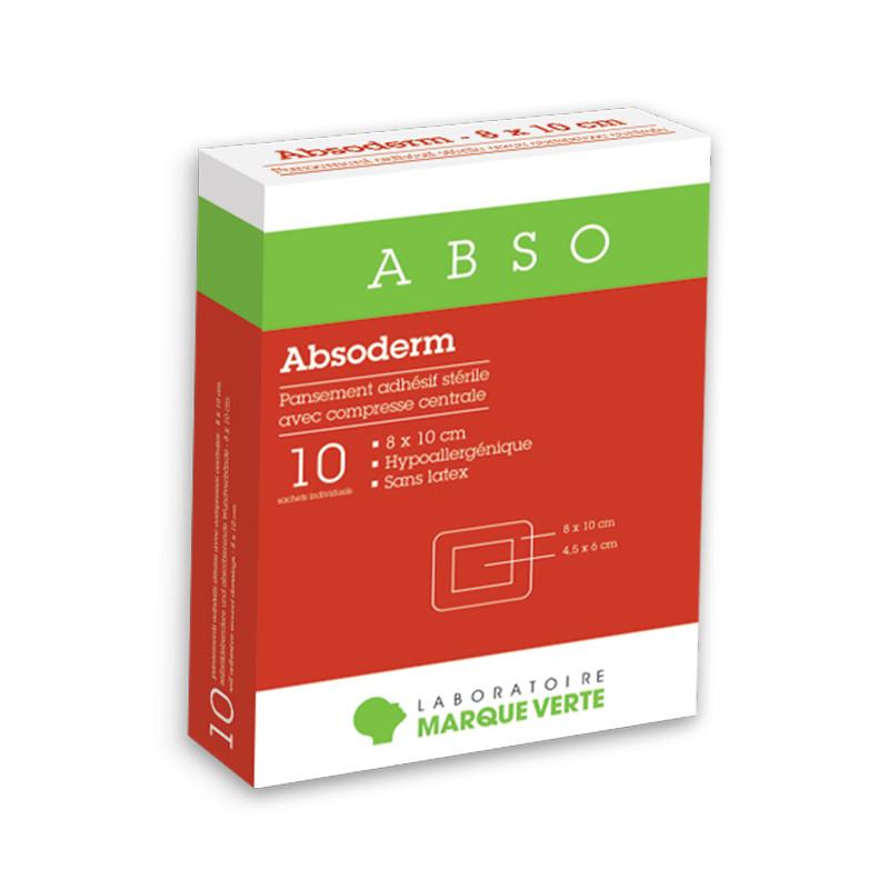 Pansements adhésifs stériles avec compresse centrale Absoderm