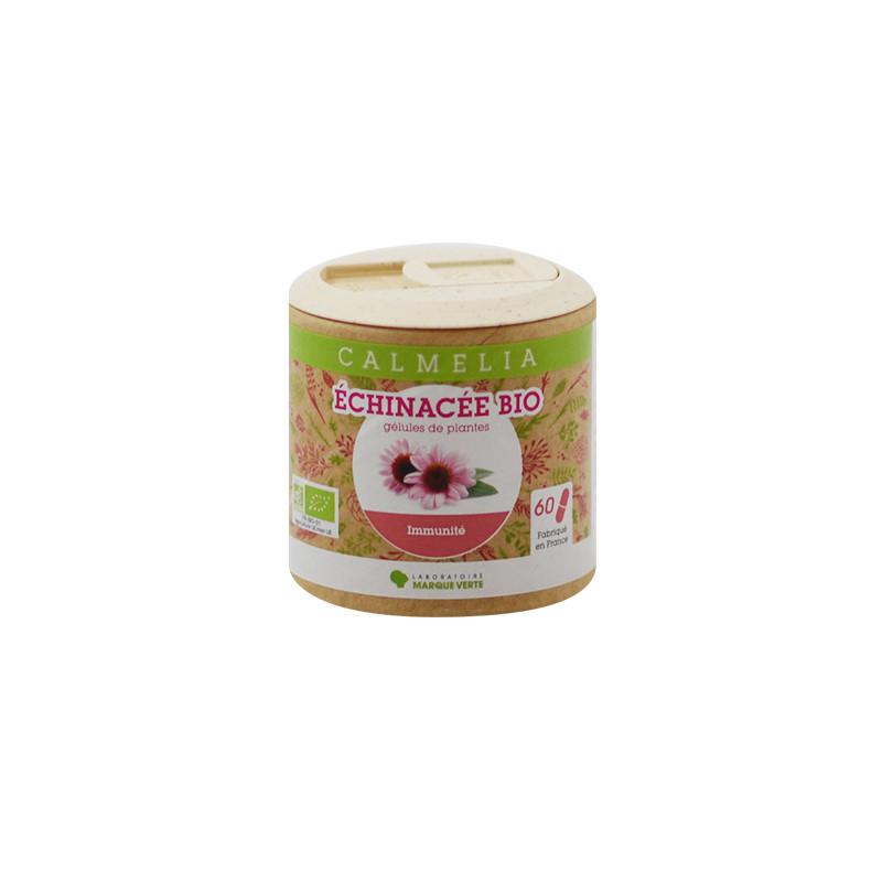 Achetez votre Echinacée bio en gélules Calmelia sur la boutique en ligne du Laboratoire Marque Verte