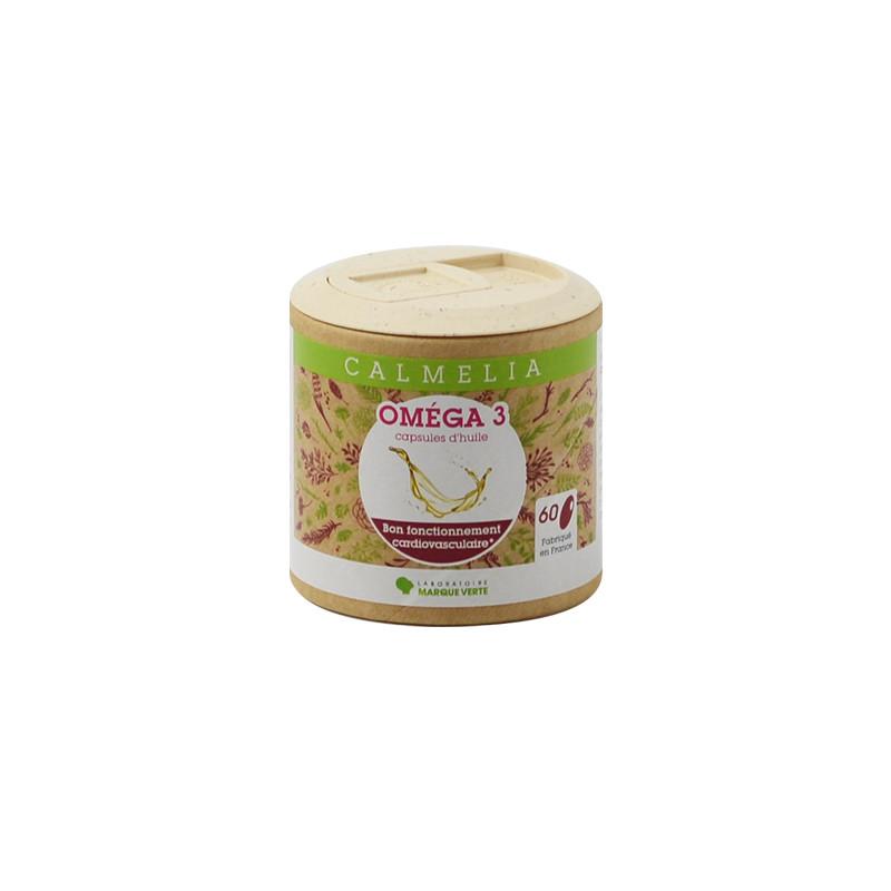 Achetez vos Omega 3 en capsules Calmelia sur la boutique en ligne du Laboratoire Marque Verte