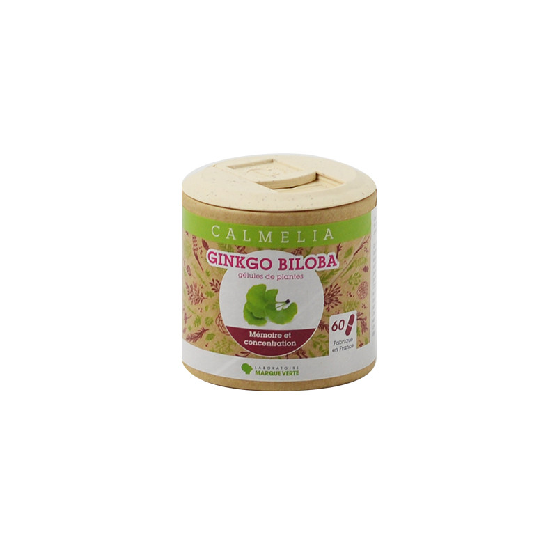Achetez votre Ginkgo Biloba en gélules Calmelia sur la boutique en ligne du Laboratoire Marque Verte