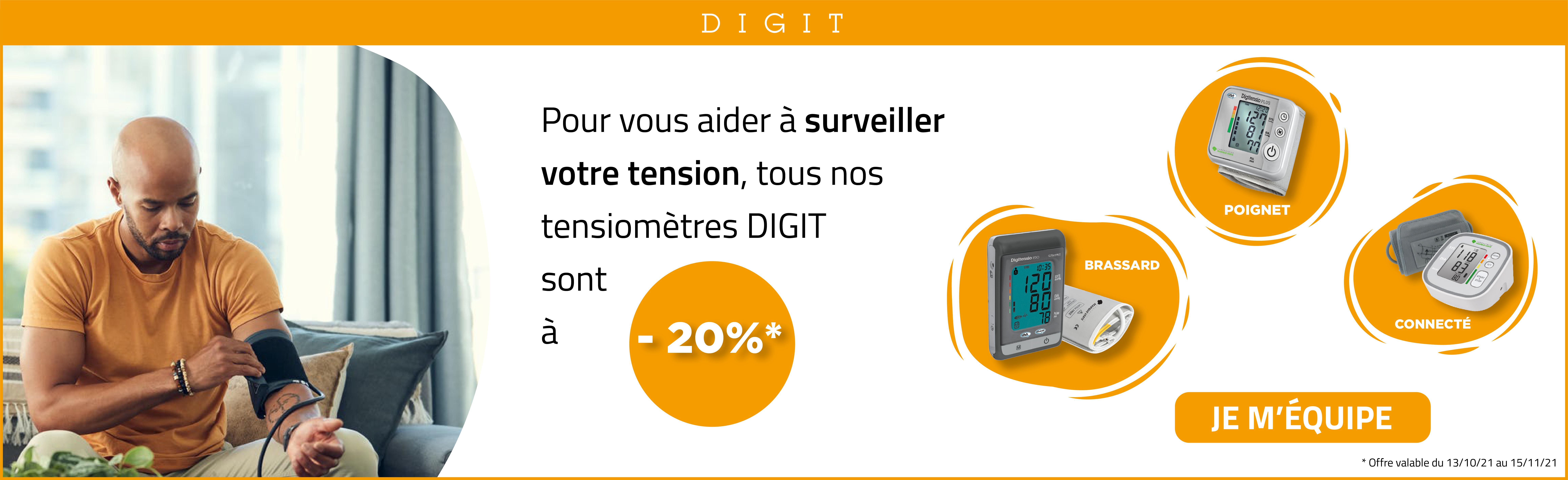 Offre tensiomètres Digit : 20% de remise sur toute la gamme Digitensio