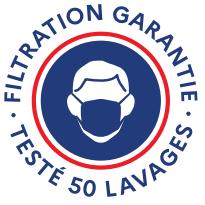 masque tissu 50 lavages filtration garantie
