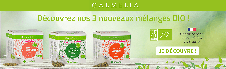 Nouvelles infusions bio Calmelia