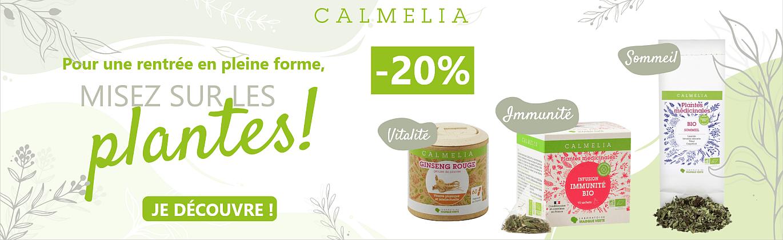 20% de remise sur toute notre gamme Calmelia