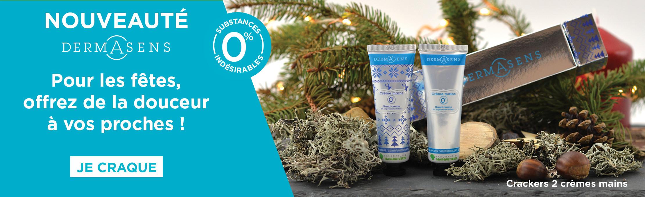 Découvrez nos crackers de Noël : 2 crèmes hydratantes pour sublimer vos mains !